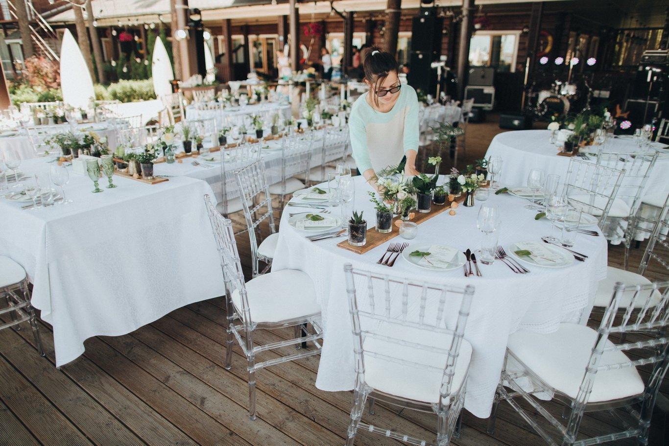 Оформление свадебного ужина